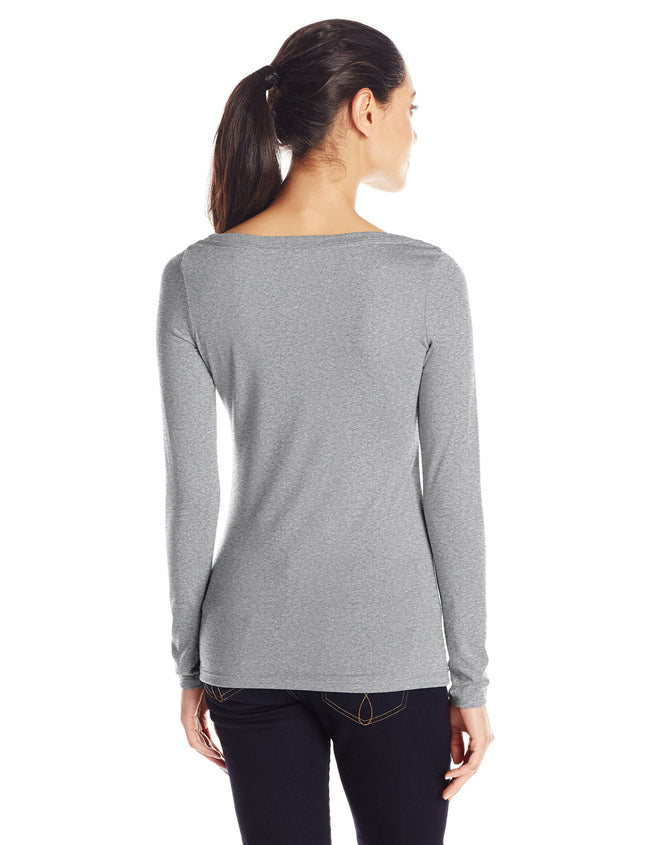 Clementine Women's Tri-Blend Long Sleeve Crew Neck Top - Clementine Apparel