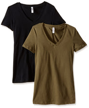 Clementine Women's Petite Plus Ideal V Neck Tee (Pack of 2) - Clementine Apparel