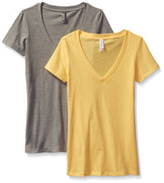 Clementine Women's Deep V-Neck Tee (Pack of 2) - Clementine Apparel