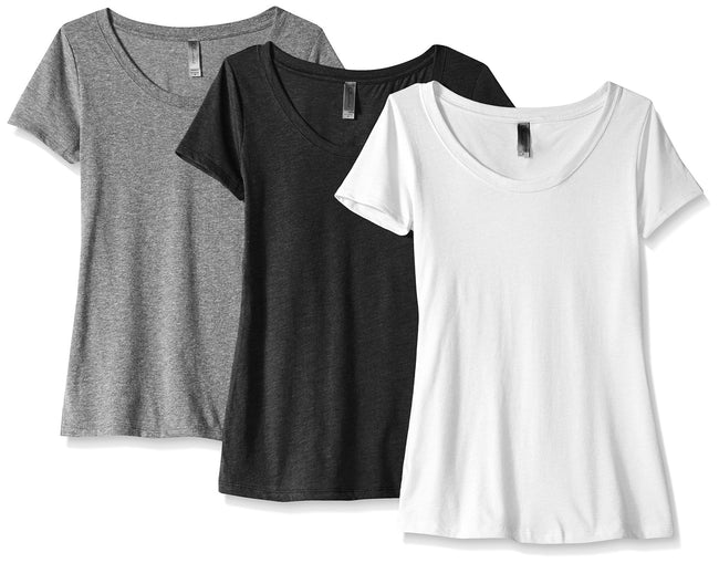 Clementine Women's Tri-Blend Scoop Neck Tee (Pack of 3) - Clementine Apparel