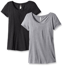 Clementine Women's Tri-Blend Scoop Neck Tee(Pack of 2) - Clementine Apparel