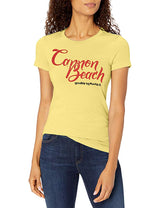 Marky G Apparel - Women's Casual Short Sleeve Crewneck Tops Slim Fit T-Shirt with Cannon Beach Printed - Clementine Apparel