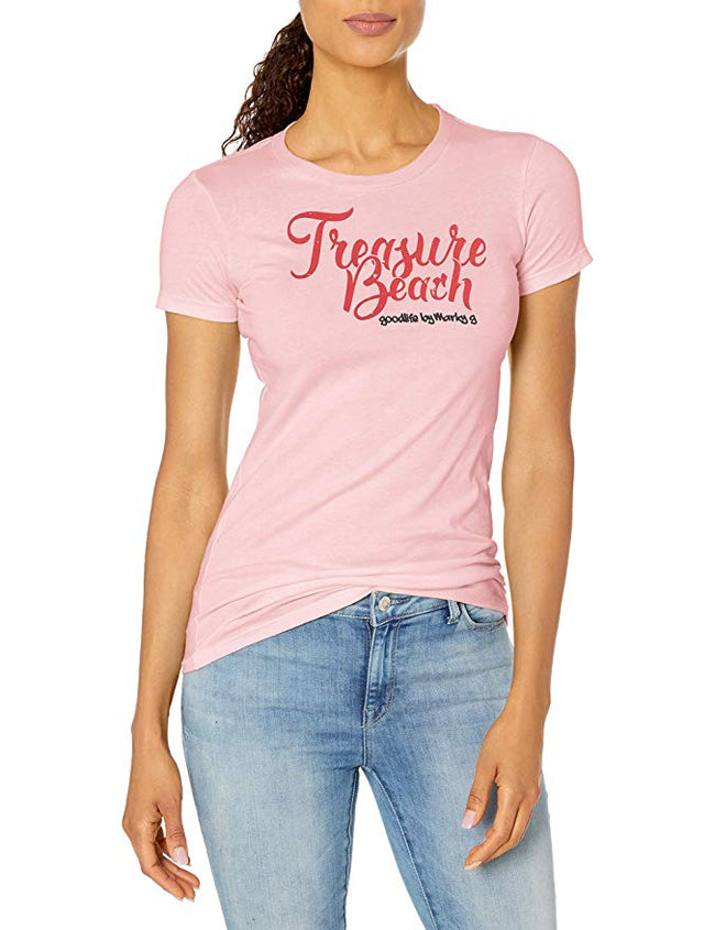 Marky G Apparel - Women's Casual Short Sleeve Crewneck Tops Slim Fit T-Shirt with Treasure Beach Printed - Clementine Apparel