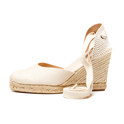 Soludos Tall Wedge Linen Natural