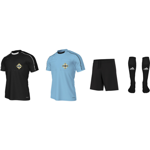 Adidas Referee 16 S/S Kit Bundle - Black + Blue (IFA)