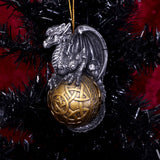 Balthazar Festive Hanging Dragon Ornament 10.6cm