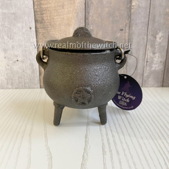 Cast Iron Cauldron With Pentacle 7cm