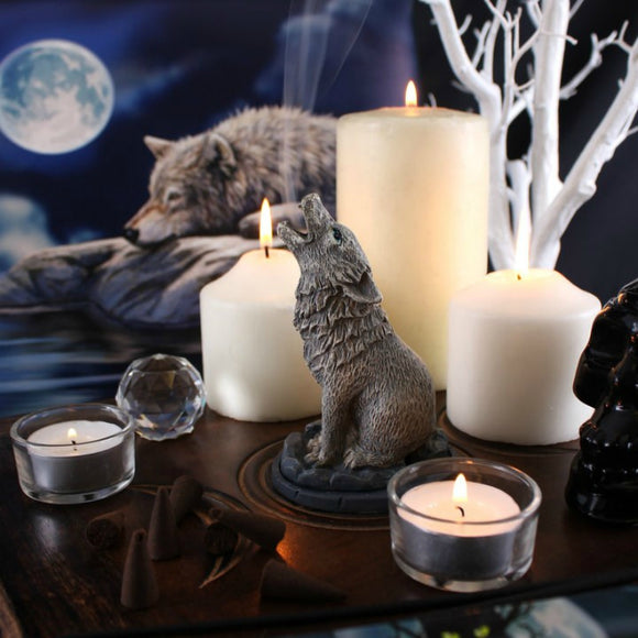 Howling Wolf Incense Cone Holder By Lisa Parker