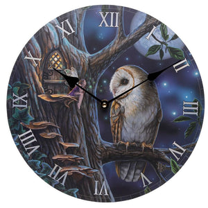 Lisa Parker Fairy Tales Owl and Fairy Picture Clock