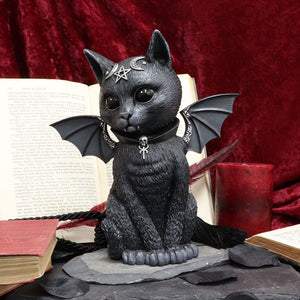 Malpuss Bat Cat 24cm & Pawzuph Horned Cat 26.5cm Large Figurines