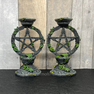 Pentacle Candlesticks 15cm Set of 2