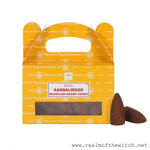 Satya Sandalwood Backflow Incense Dhoop Cones