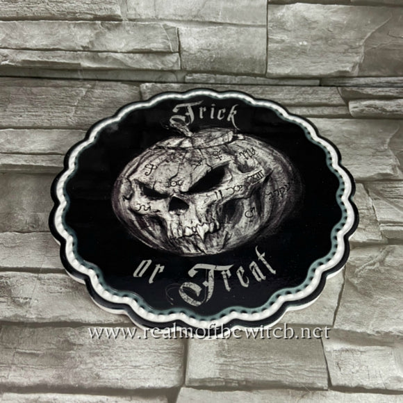 Trick or Treat Trivet/Serving Plate by Alchemy