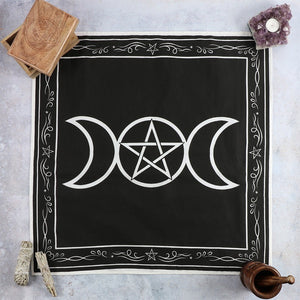 Triple Moon Altar Cloth 70 x 70cm