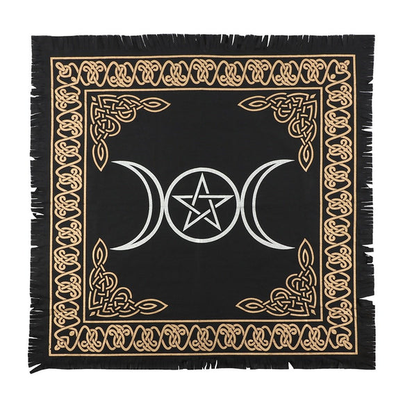 Triple Moon Pentacle Altar Cloth 65 x 65cm