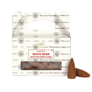 Satya White Musk Backflow Incense Dhoop Cones