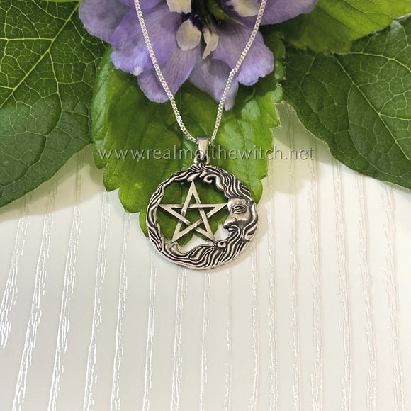 Sterling Silver Wise Man Pentagram Necklace **ON SALE** WAS 29.99 NOW 27.99