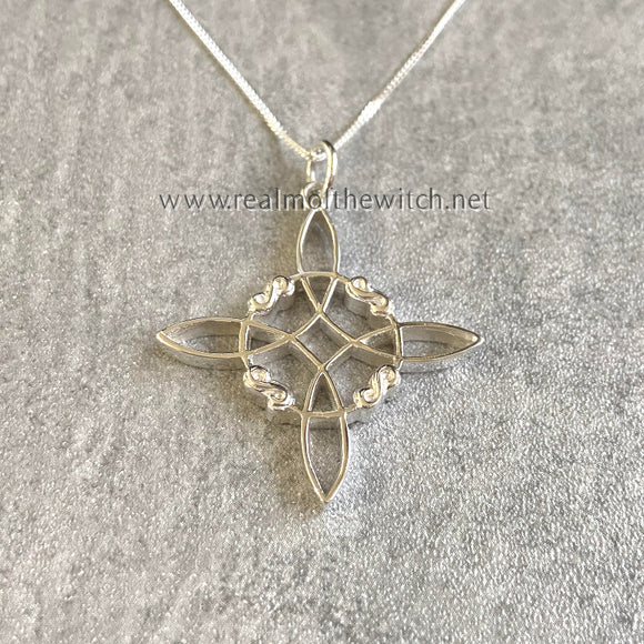 Sterling Silver Witch's Knot Necklace