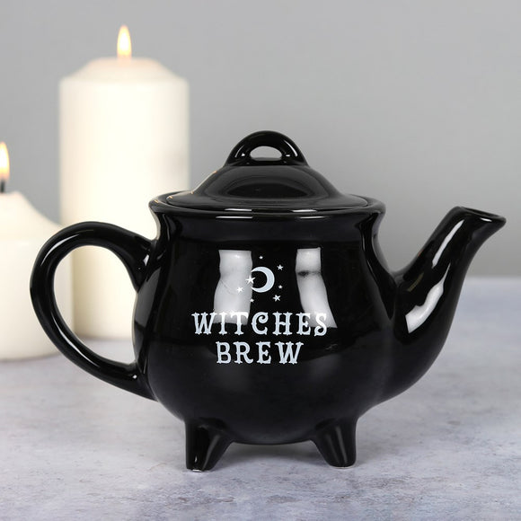 Witches Brew Black Cauldron Tea Pot