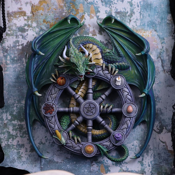 Anne Stokes Year of the Magical Dragon Pagan Wheel of the Year Wall Plaque 30cm PRE ORDER