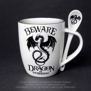 Mug and Spoon Set 'Dragon Is Stirring' by Alchemy
