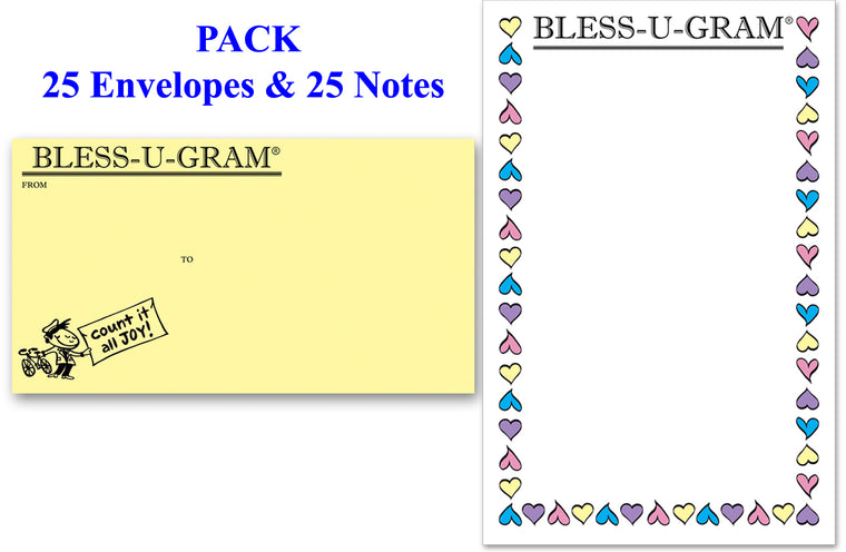 BLESS-U-GRAM® PACK of 25 - Large Notes