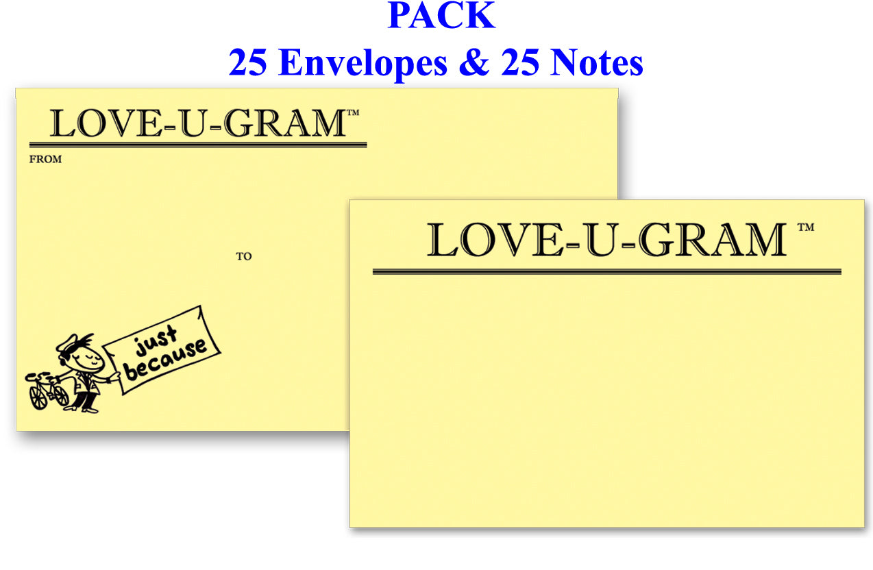 LOVE-U-GRAM Pack of 25