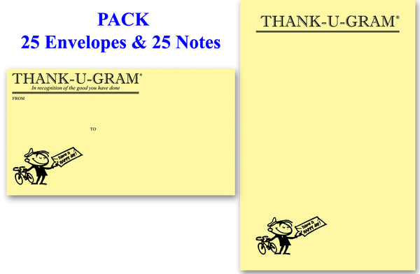 THANK-U-GRAM® PACK of 25 - Large Notes