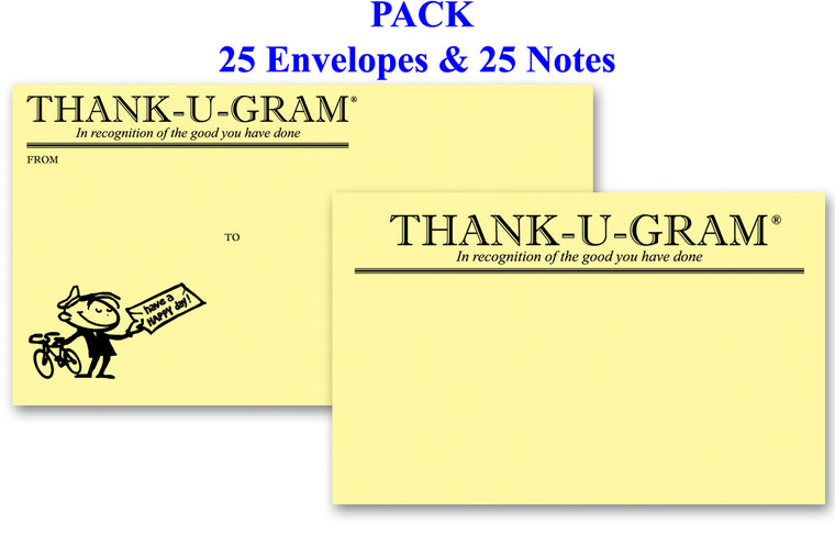 THANK-U-GRAM® PACK of 25 - The ORIGINAL