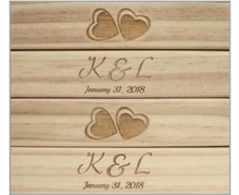 Customized Giant Tumbling Timbers with LOGO / INITALS - NEW ( FREE SHIPPING )