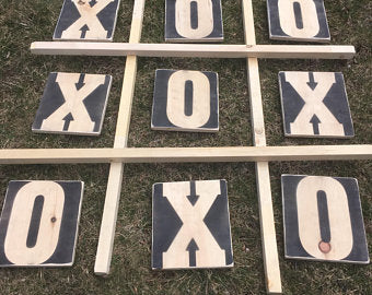 Jumbo Tic Tac Toe / Yard Tic Tac Toe game - Handcrafted (FREE SHIPPING)