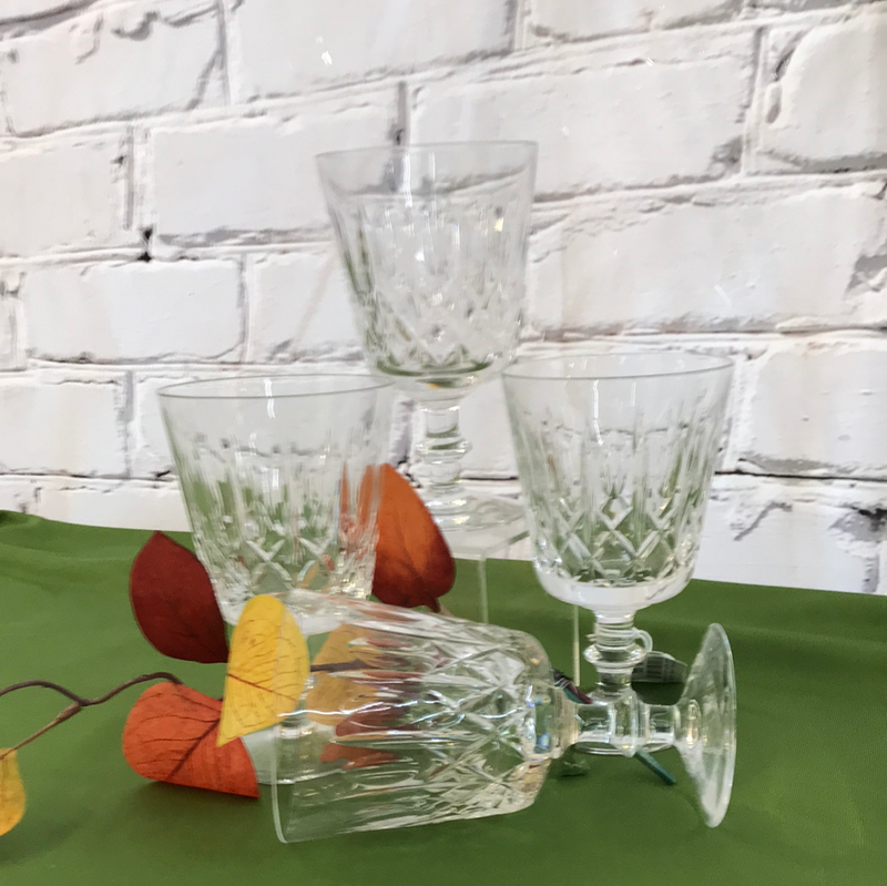 crystal wide wine glasses