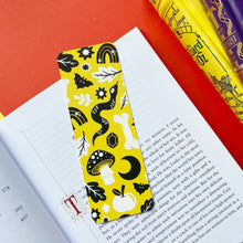 Yellow Snake Pattern Bookmark