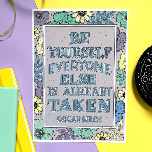 Oscar Wilde Be Yourself Print (COLOUR)