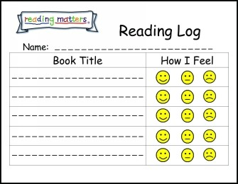 Kindergarten Reading Logs