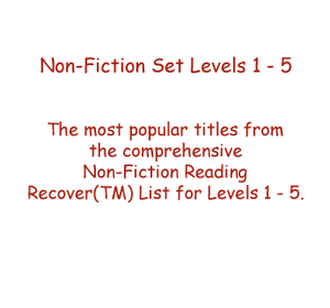 Non-Fiction Set Levels 1 - 5