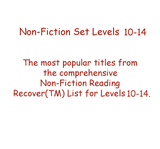 Non-Fiction Set Levels 10 - 14