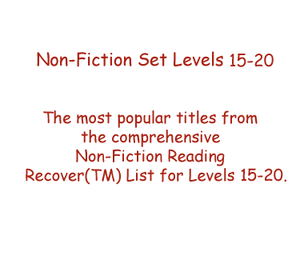 Non-Fiction Set Levels 15 - 20