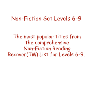 Non-Fiction Set Levels 6 - 9