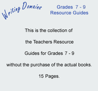 Writing Domains Grades 7 - 9 Resource Guides
