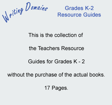 Writing Domains Grades K-2 Resource Guides