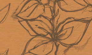Aquatint floral Wallpaper - Peach + Taupe