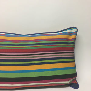Multi brights Striped Cushion