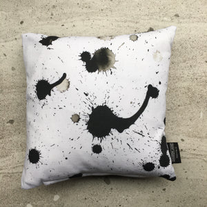 Splatter Monochrome Mini Cushion