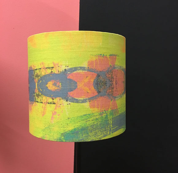 Yellow circle Abstract lampshade by STUDIO 26