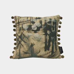 Abstract No 1 Linen Mini Cushion
