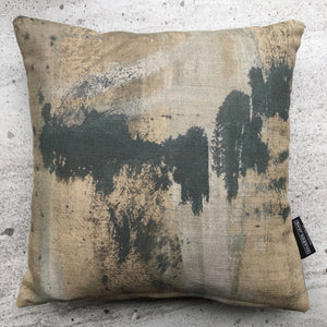Abstract No 2 Linen Mini Cushion