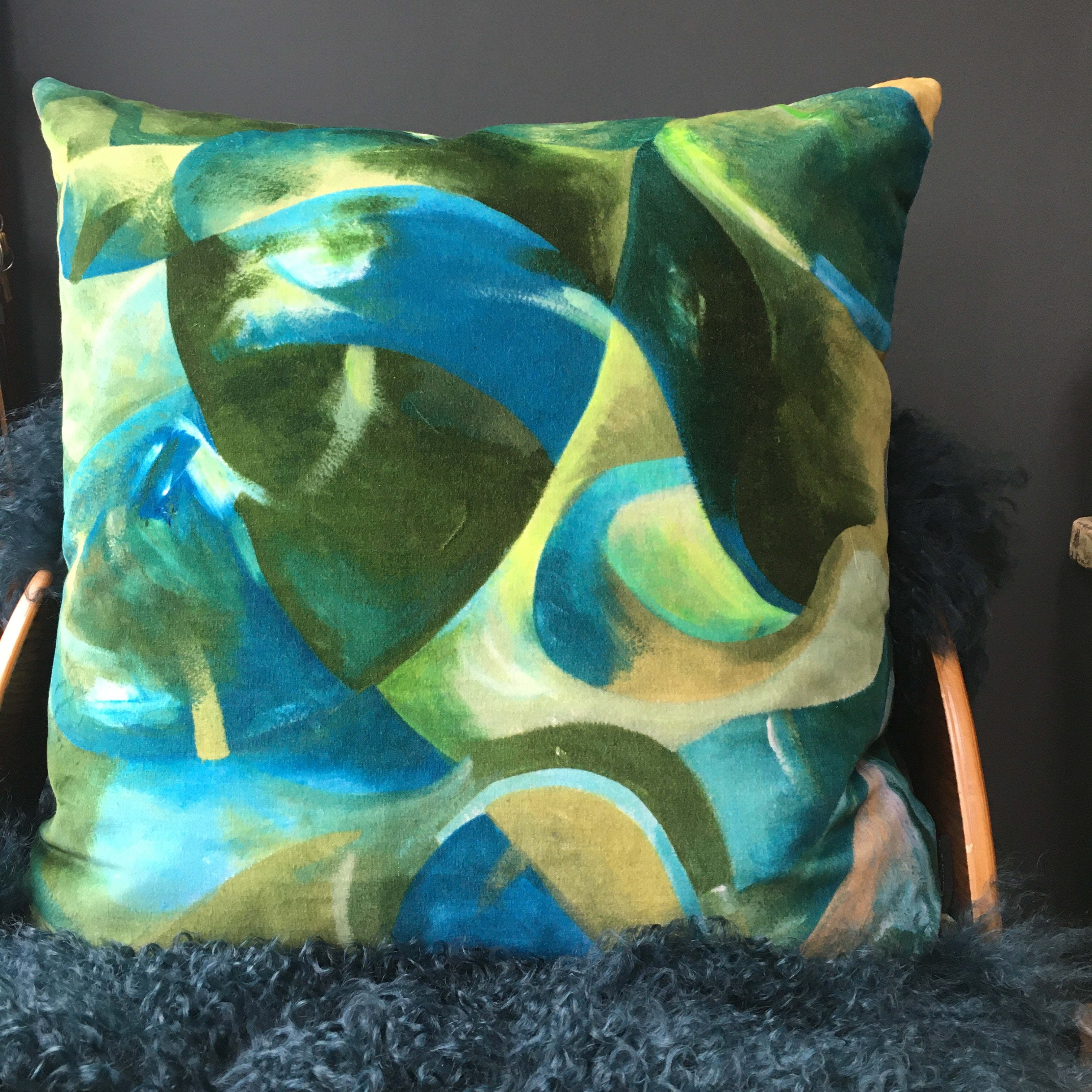 Strata Large Velvet Cushion