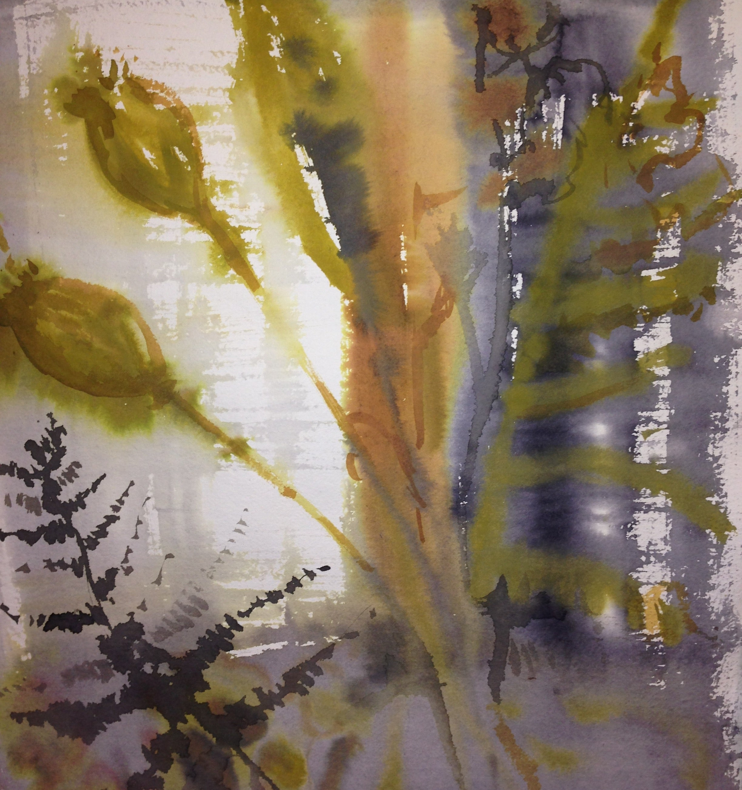 Fern Watercolour Painting