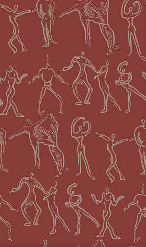 Dancers Wallpaper - Red Brick